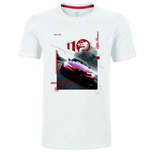 Alfa Romeo díszdobozos Giulia GTA 110 anniversary férfi póló, fehér