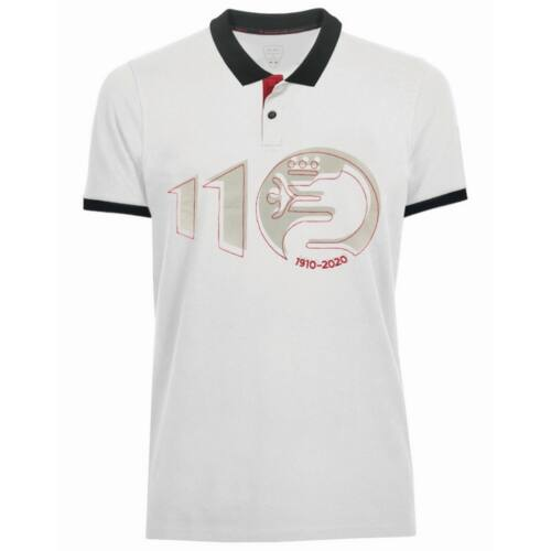 Alfa Romeo 110 anniversary big logo férfi pólóing, fehér