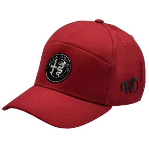 Alfa Romeo 110 anniversary baseball sapka, piros-ezüst 'emblem line'