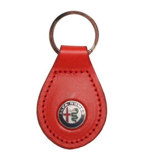 "Alfa Romeo bőr kulcstartó Marchio ""piros"""
