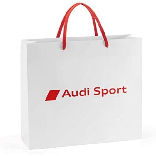 """Audi Sport papírtáska """"fehér-piros"""" 40x13x35 cm"""