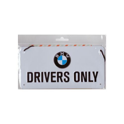 """Bmw akasztós fém tábla """"Drivers only"""""""