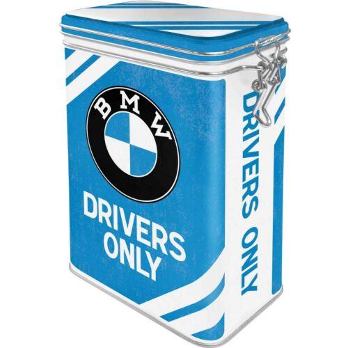 """BMW fémdoboz csatos,aromazárós """"Drivers only"""""""