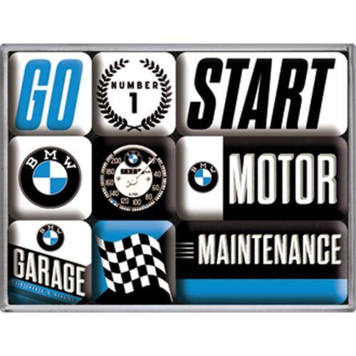 """Bmw mágnes-szett """"Motor"""" 9 x 7 cm"""