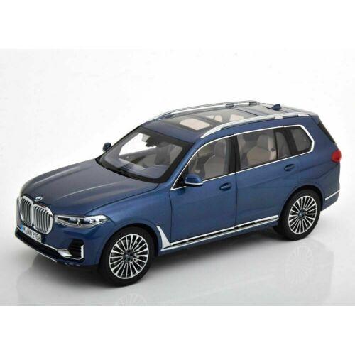 BMW X7 blue metallic modell autó 1:18