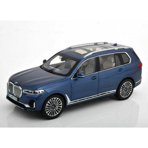 BMW X7 blue metallic modell autó 1:18