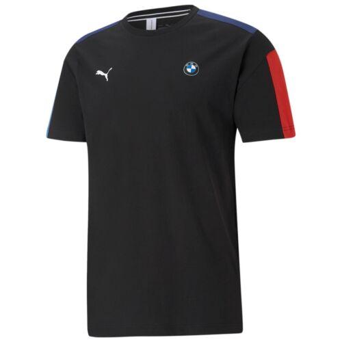 Puma BMW M Motorsport T7 férfi póló, fekete-kék-piros