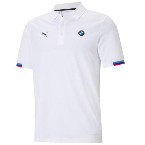 Puma BMW M Motorsport férfi pólóing, fehér-kék-piros