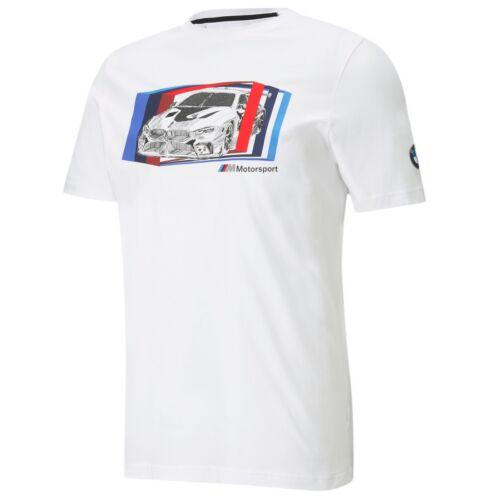 Puma BMW M Motorsport Car Graphic férfi póló, fehér-kék-piros