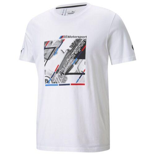 Puma BMW M Motorsport Graphic T7 férfi póló, fehér-kék-piros