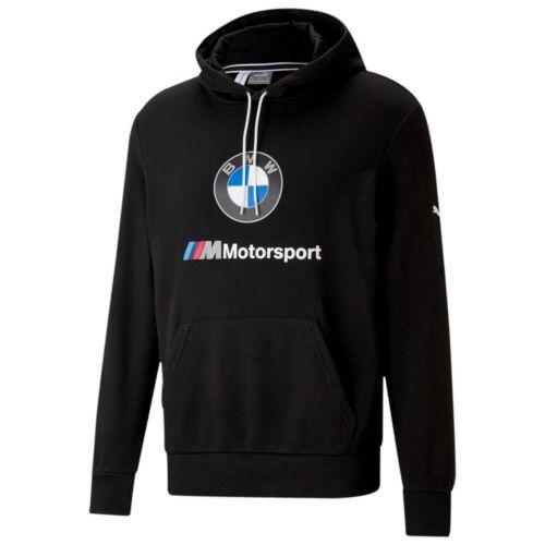 Puma BMW M Motorsport Essentials férfi kapucnis pulóver, fekete