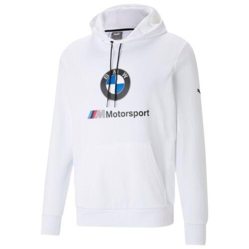 Puma BMW M Motorsport Essentials férfi kapucnis pulóver, fehér