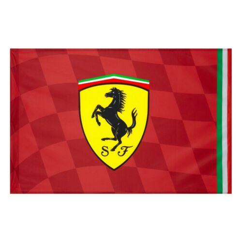 Ferrari zászló piros kockás 140 x 100 cm
