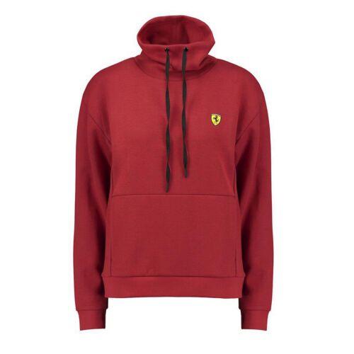Ferrari SF női tölcséres nyakú pulóver piros