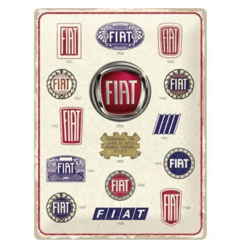 """Fiat dombornyomott fémplakát 30 x 40 cm """"Logo"""""""