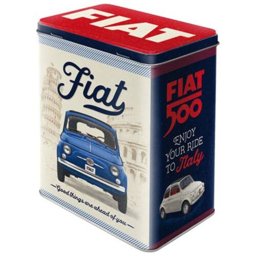"""Fiat 500 fémdoboz """"Leave all the bad things behind"""""""