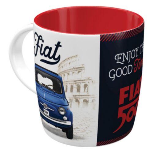 """FIAT 500 bögre """"ENJOY THE GOOD TIMES"""""""