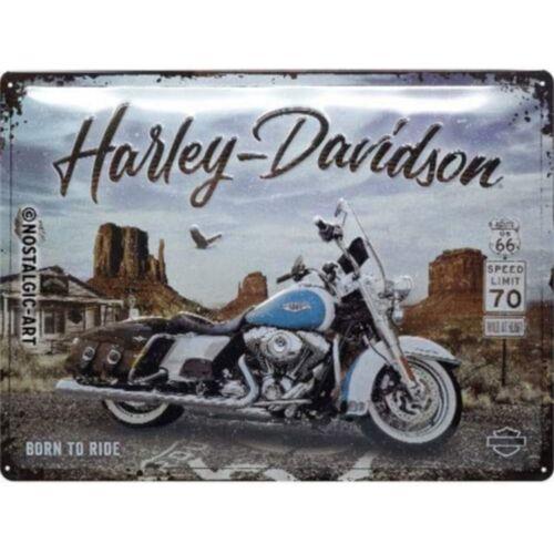 "Harley-Davidson dombornyomott fémplakát 30 x 40 cm ""Born To Ride"""