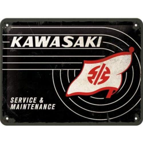 Kawasaki dombornyomott fémplakát 15 x 20 cm
