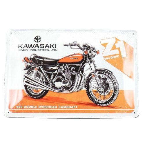 """Kawasaki dombornyomott fémplakát """"Z1 900 DOHC"""" 20 x 30 cm"""