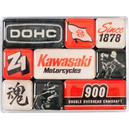 """Kawasaki mégnes-szett """"Motorscycles"""" 9 x 7 cm"""