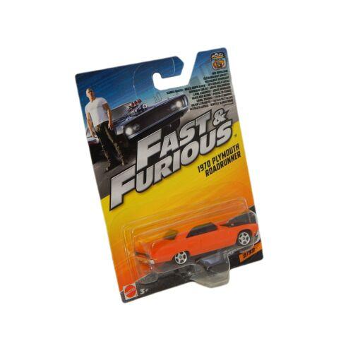 Fast & Furious 7 1970 Plymouth Roadrunner orange autó 1:55