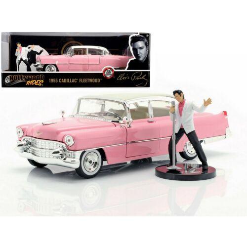 1955 Cadillac Fleetwood & Elvis Presley figura modell autó 1:24