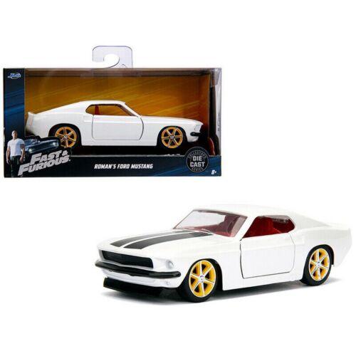 ROMAN'S Ford Mustang white F&F modell autó 1:32