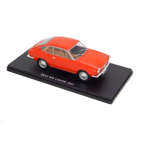 Seat 850 Coupé 1967 red modell autó 1:24