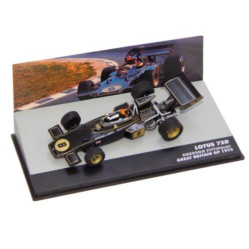 LOTUS 72D Emerson Fittipaldi #8 1972 modell autó 1:43