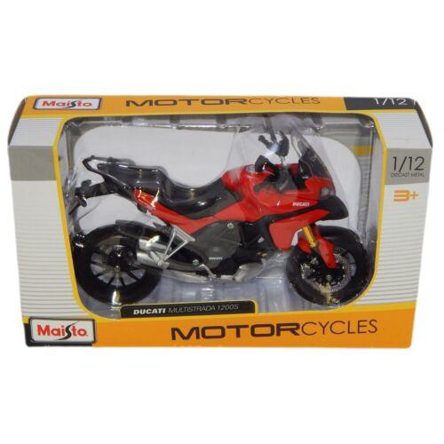 Ducati Multistrada 1200 S piros/fekete modell 1:12