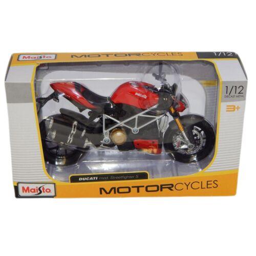 Ducati mod. Streetfighter S piros/fekete modell 1:12