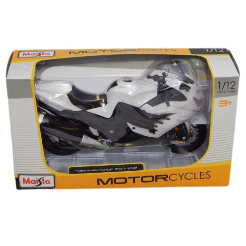 Kawasaki Ninja ZX 14R fehér/fekete modell 1:12