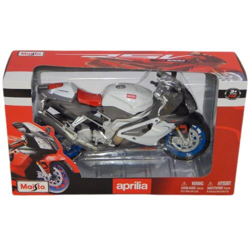 Aprilia RSV 1000R fehér/szürke/piros modell 1:12