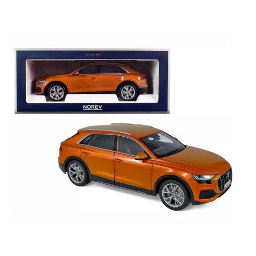 2018 Audi Q8 Orange metallic modell autó 1:18