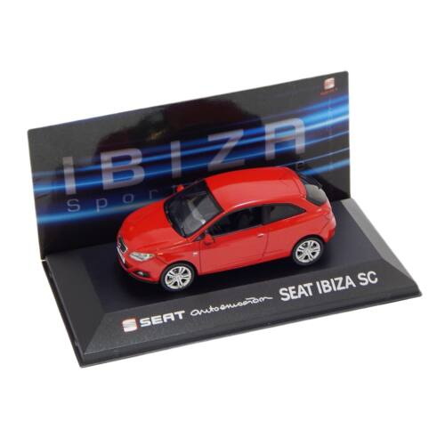 2013 Seat Ibiza SC red Dealer packaging modell autó 1:43