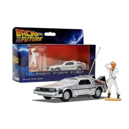 Back To The Future Delorean part 1 & Doc Brown figura modell autó 1:36