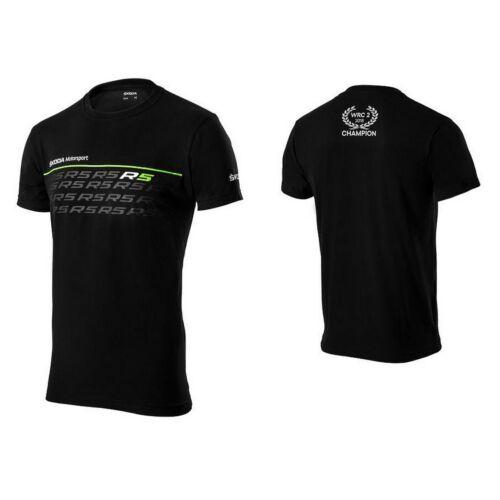 "Skoda Motorsport R5 férfi póló ""Logó"" fekete-zöld"