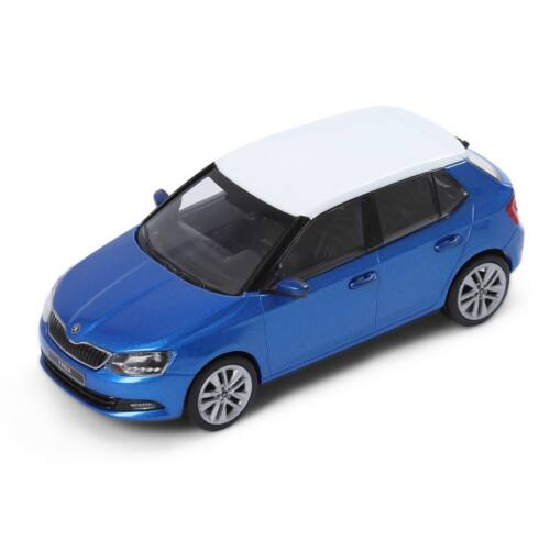 Skoda NEW Fabia Race Blue/white roof modell autó 1:43