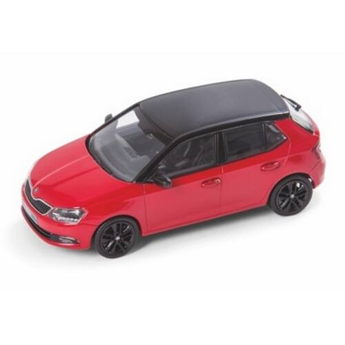 Skoda NEW Fabia Corrida Red/black roof modell autó 1:43
