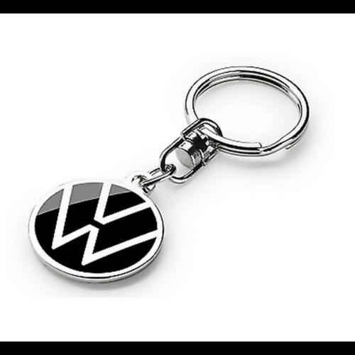 VW fém kulcstartó fekete/fém